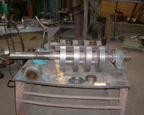 Granulating shaft for repair and rebuild