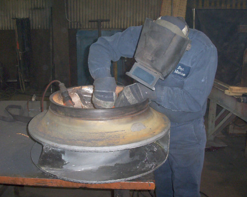30-inch pump - rebuilding impeller