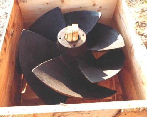 Pumps 44-36 inch pump impeller, rebuilt damaged areas & ceramic coated