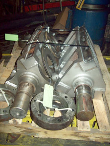 Granulator shafts - rebuilt bearing areas