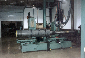 Steel slitting mandrel arbor - repaired and laser heat treated bearing areas