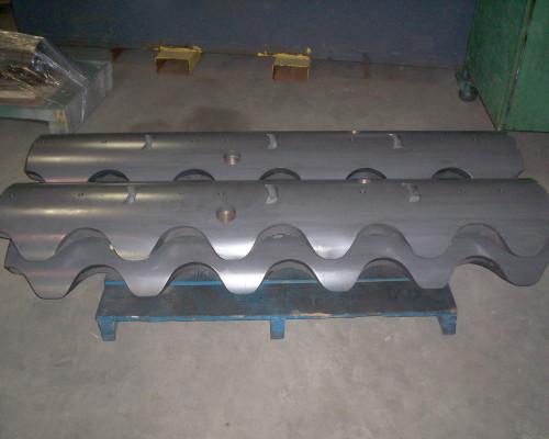 Steel mandrel segments - carbide coated