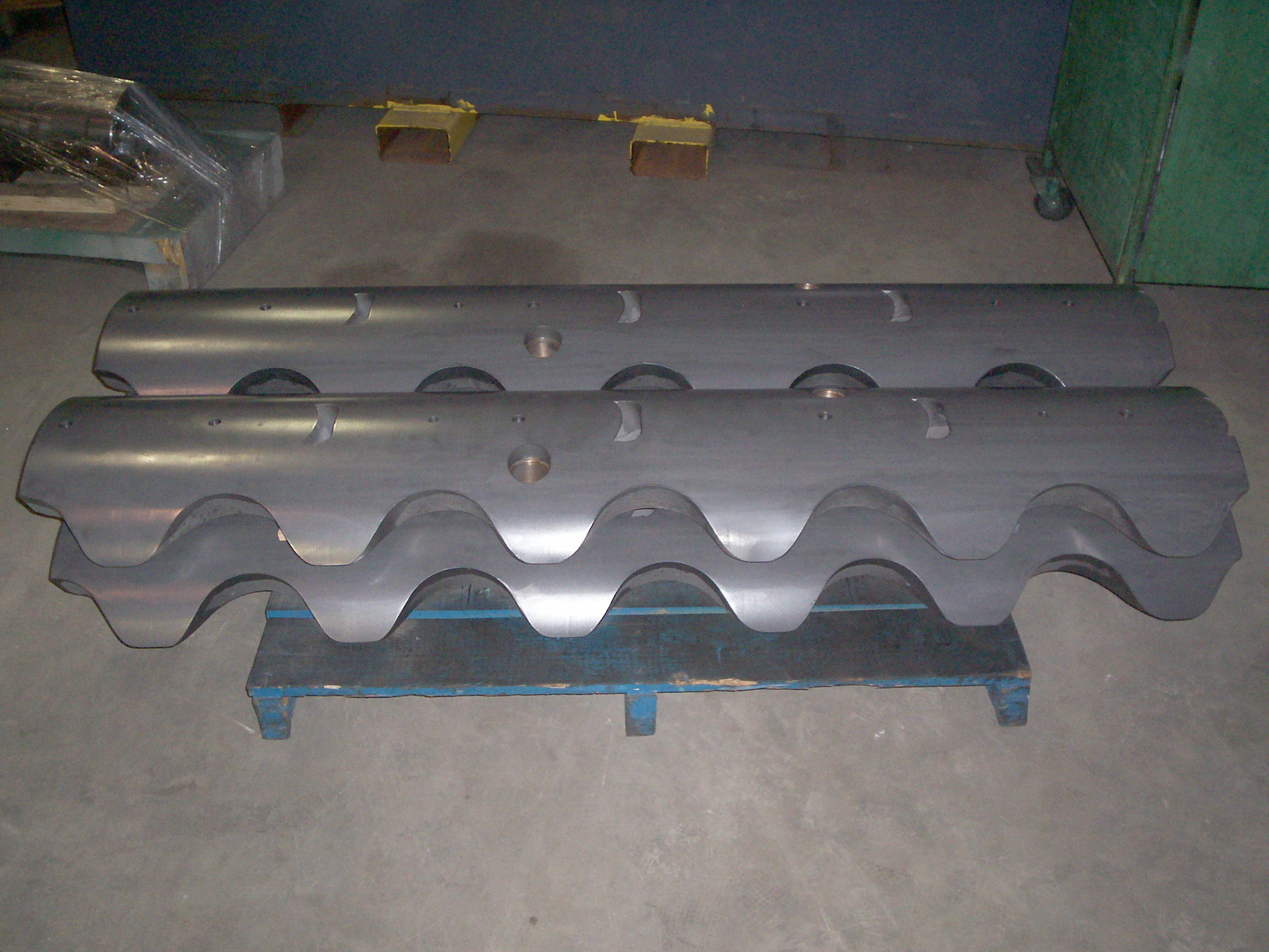 Steel mandrel segments - carbide coated