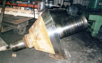 Crusher cone - bearing & seal areas
