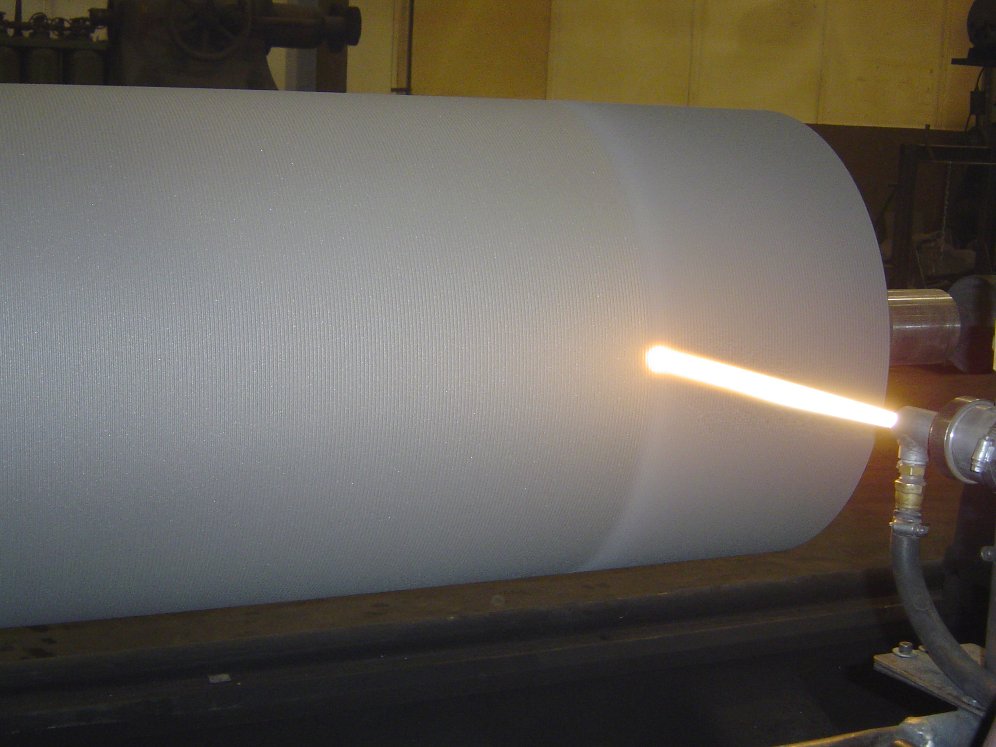 Steel-25-roll-carbide-coated-by-HVOF