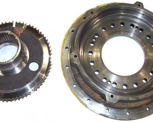 Construction -transmission repaired bearing & seal areas