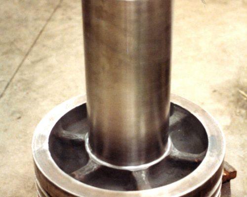 Plastics 13-24 in hydraulic piston rod repaired seal area