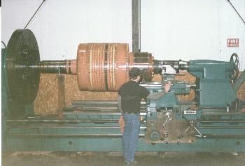 Rotating 16- large armature carbide coated bearing areas