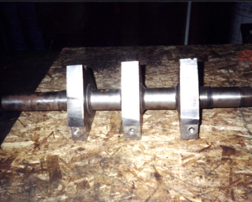 Granulator shaft - rebuilt bearing areas
