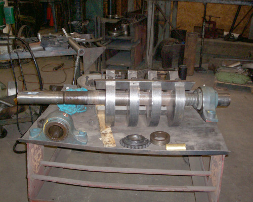 Granulating shaft for repair and rebuild