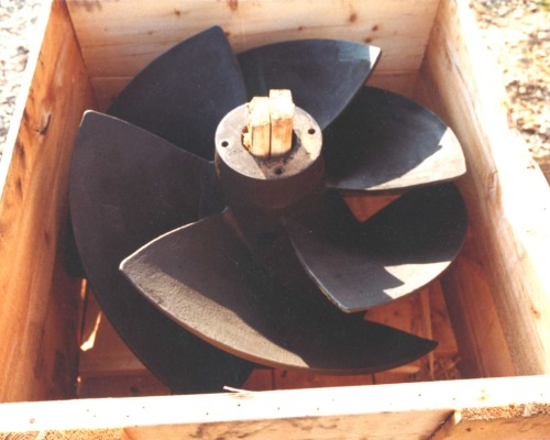 Pumps 44-36 inch pump impeller, rebuilt damaged areas & ceramic coated