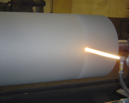 Roll carbide coated by HVOF