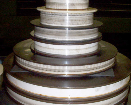 Ceramic step capstans - to be reground and polished