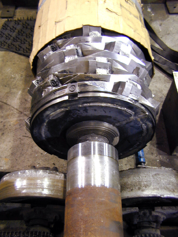 Granulator - weld on new stub shaft
