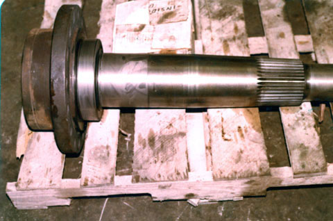 Drive axle rock hauler - rebuilt bearing areas