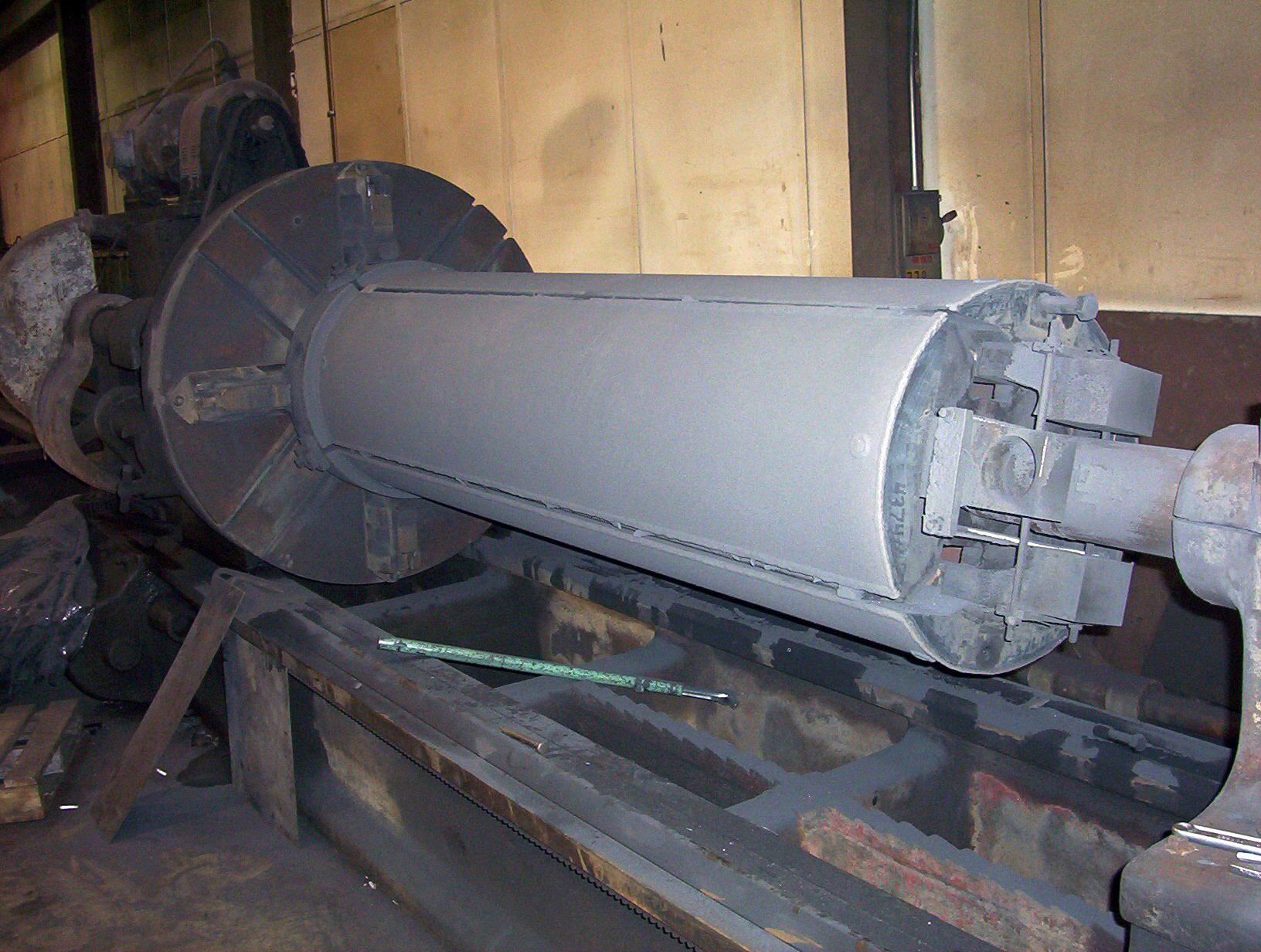 Mandrel segments - built up with carbide