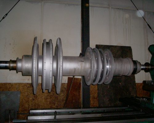 Energy 28-turbine shaft rebuilt bearing areas