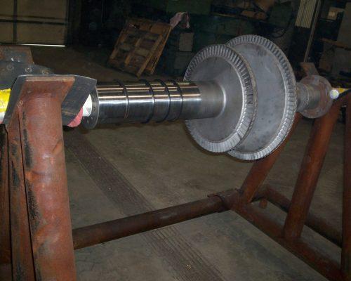 Energy 30-turbine shaft rebuilt bearing areas