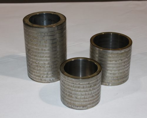 Laser heat treat bushing for pumps