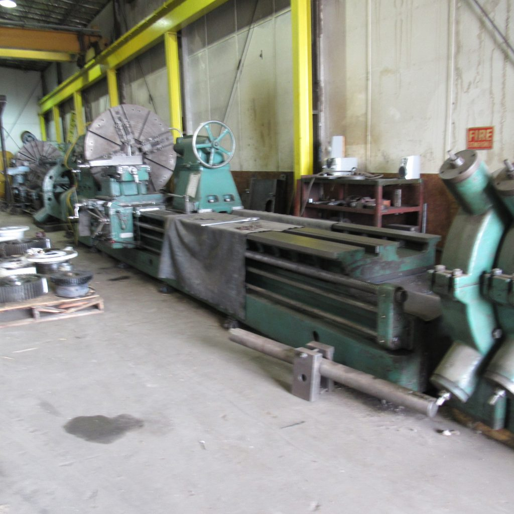 Gap Bed Lathe - 80' diameter over gap / 14ft length / 20,000lbs max
