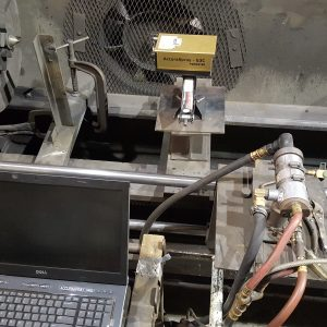 TEC-NAR - For reading velocity and temperature of particles coming out of a HVOF unit