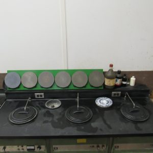 Finishing tables to prepare samples for analysis. Laser-clad, PTA coatings, welded overlays, and thermal spray coatings.