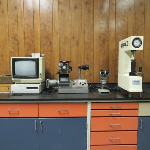 (From left to right) Olympus Metallograph, Olympus Microscope, Macro Hardness Tester