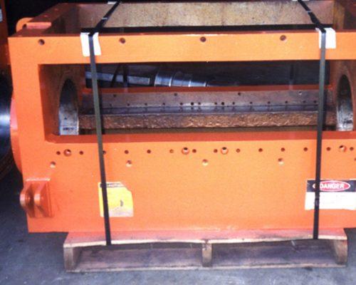 granulator box rebuilt bearing bores & blade seats